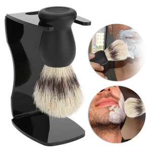 3 In 1 Shaving Soap Bowl +Shaving Brush+ Shaving Stand Bristle Hair Shaving Brush Men Beard Cleaning Tool New Top Gift Free Shipping