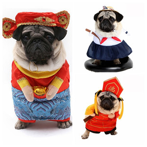 Funny Dog Costume Suits Coat Cats Dogs Cosplay Clothes Pet Dog Cat Funny Costume Jacket Party Dressing Up Clothing Suit