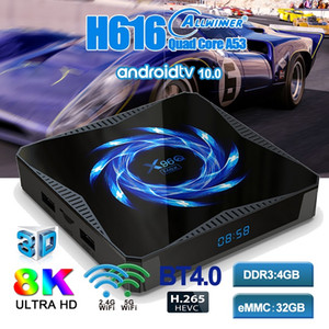 Android TV Box X96Q Max Allwinner H6 Quad core TV Box Support Smart TV WIFI Bluetooth 5.0 Android 10.0 4+32 64GB