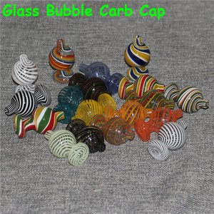 Glass Cyclone Spinning Carb Cap Glass Cap For 25mm flat top banger Dome with spinning air hole Quartz Banger Nails