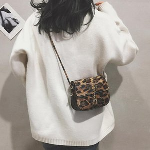 Womens Leopard Imprimir Bolsa de hombro Messenger Bag Fashion Teléfono Fawn Colgante Alta Calidad Casual Pequeños Bolsas cuadrados #SRN