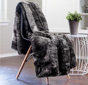 Weiche super Fuzzy Faux Warm-flaumige Plüsch-Sherpa-Pelz-Mikrofaser Bett Decke Kjjs