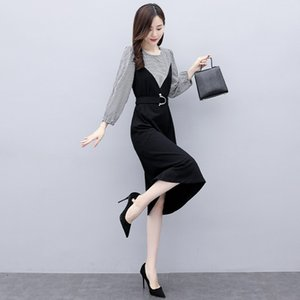 Vestido U39fs Xiu larga falda Qun 2020 primavera y el otoño de vestir Zhang Zhang Qun Xiu nueva luz temperamento de la cintura que adelgaza de las mujeres de la mujer madura g