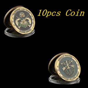 10PCS United States Army Special Forces Faithful and True Green Berets Liberty Freedom Coin Collection