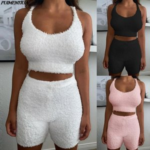 2020 New Fashion 2 Piece Outfits For Women White Short Tops amp;shorts Slim Elegant Womens Sexy Casual Suspenders Two Piece Sets