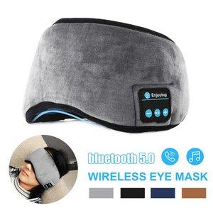 Wireless bluetooth Earphones Eye Mask bluetooth 5.0 Stereo Music Sleep Headset Travel Eye Shades with Built-in Speakers Mic