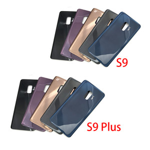 50 pcs OEM for Samsung Galaxy S9 S9 PLUS Replace Battery Door Glass Back Cover + Adhesive with logo free DHL
