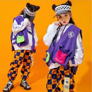 Girls Ballroom Jazz Современные танцы Костюмы для одежды Костюмы Детский хип-хоп Танцевальная одежда Нарядные наряды Носить костюмы одежды