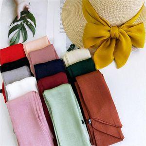 Шарфы мода маленький длинный шелковый шарф для женщин чистая весна осень лето корея джокер запястье мешок ленты ремень оголовье шея волос