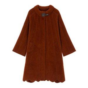 WYWAN Kış taklit vizon polar Batı altın vizon polar ceket moda bayan yün ceket