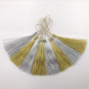 10 pcs ouro seda de silk de seda borla pingente de jóias cortina de jóias vestuário decorativo acessórios chave saco de chave pingente artesanato borlas diy h jllfzr