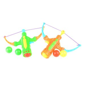 Arrow Table Tennis Gun Bow Archery Plastic Ball Flying Disk Shooting Toy Outdoor Sports Children Gift Slingshot Hunting Boy Toy