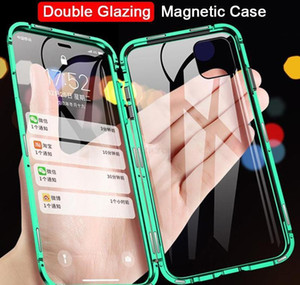 Magnetic Adsorption Metal Phone Case For Iphone Xr Xs X Xs 6 7 8 Plus 11 12 Pro Max Double Sided Tempered Glass Fu bbyqyx yhshop2010