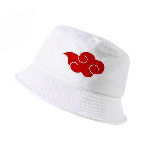 100% coton japonais Akatsuki Logo chapeau Anime Naruto chapeau de papa Uchiha chapeaux seau imprimé famille hommes femmes panama caps pêcheur