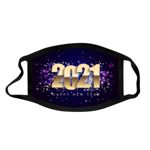 face mask  2021 new year  mask cotton washable adult mouth masks happy new year dustproof haze facemask DHA2614