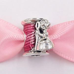 Authentique 925 Sterling Silver Beadsn x Pandora Cendrillon Suzy Souris Souris Thread Thread Charms Convient aux bijoux de style Pandora européen