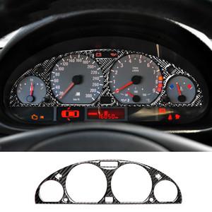 Pantalla interior de la fibra de carbono del tablero de instrumentos del tablero de instrumentos de protección recorte Etiqueta Styling coche para BMW E46 M3 1998-2005