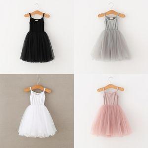 Dudu Quality Ins 4 Cores Bebê Meninas Lace Tulle Sling Dress Crianças Suspender Malha Tutu Princesa Vestidos Boutique Kids Roupas 553 K2