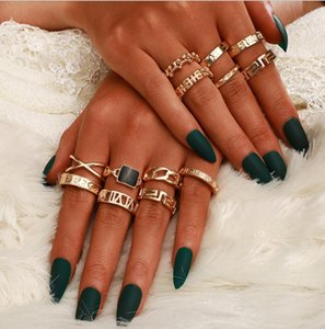Feature fashionable alloy geometric elements ring letter ring the best gifts for men and women.