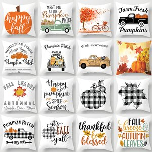 Halloween decorations Pillow Case pumpkin car Autumn Leaves Thanksgiving Throw Pillow cases Cushion Cover Back Sofa Mat pillowcase 25 styles