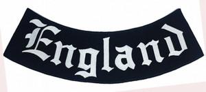 Giacca Outlaw Inghilterra Rocker ricamato il ferro sulla toppa Motociclista Club MC parte anteriore della maglia Patch dettagliata ricamo X80D #