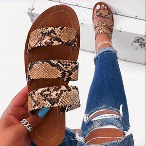 Newdiscvry 2020 Новые женщины Flop Flop Snake Double слой сандалии плоские Нижние Дамы Наружные Путешествия Мода Дикие Студенты Тапочки1