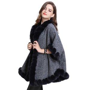 Ladies Coats Jackets Black Turtleneck Big Pockets Cloak Coats Sexy Luxury Clothes Outwear Oversize Warm Fall Bestselling GG50yf