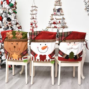 Noel Dekorasyon Sandalye Kapak Ev Mobilya Ağaç Noel Baba Süsleme Kol 2020 Karikatür Bebekler Kollu Lovely 15qh F2