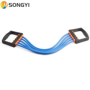 Songyi Tendeur de latex Durable Cinq Détachable Caoutchouc Poitrin Expander Yoga Tension Belty Factory Ventes Chaude Équipement de remise en forme I136