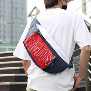 New Men Waist Bags Oxford Fanny Pack Letter Street Banana Bags Unisex Hip Bag High Capacity Hip Hop Kidney Bag Shoulder