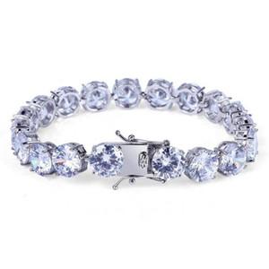 10MM Zircon Tennis Bracelets Fashion Luxury Exquisite Grade Quality Platinum Plated Hip Hop Bracelets For Men Women