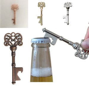 Vintage Keychain Opener Ancient Copper Key Beer Bottle Opener Creative Wedding Gift Party Bar Tool Metal Key Chain Opener 4 Colors BC BH4187