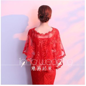 dress wedding shawl 2019 new style shoulder covering arm flesh lace lace fat MM wedding dress size large shawl white red BRPkc
