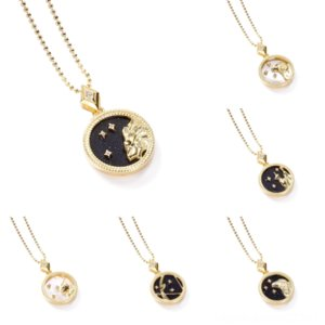 KCIXw neckla S925 jewelry new letter pearl female earrings Dijia Shell Necklace CD infinity Twelve Constellations Internet celebrity