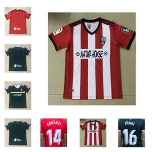 Tailândia 20 21 Ud Logroñés Camisas de futebol Andy inaki errasti Zelu Vitória 2020 2021 Fãs de Fãs Versão Camisa de Futebol