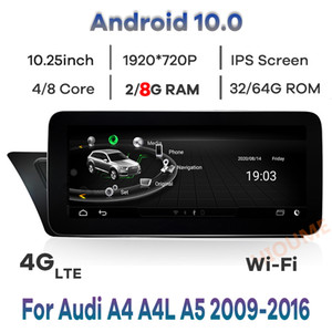 """10.25 """"8Core 8 + 64G Android 10 Car Multimedia Player GPS Navigation for Audi A4 A4L A5 B8 2009-2017 راديو ستيريو مع BT WIFI 4G"""