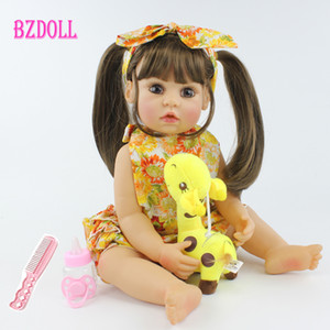 55cm Tüm Vücut Silikon Reborn Baby Doll Oyuncak Gerçekçi 22inch Vinil Alive Bebekler Giydirme Prenses Bebek Kız Doğum Hediye 1011