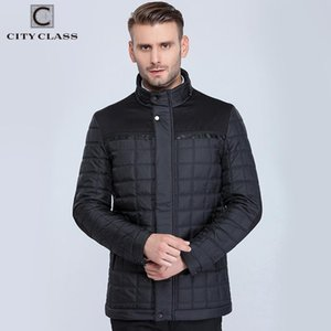 CITY CLASS 2020 New mens classic fashion casual slim fit sewing cotton-padding stand collar warm winter jacket 15800