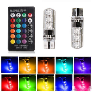 Auto Interior Car Rgb LED Car Dome Atmospheric Light 12v Super Bright Bulb Car Internal Remote Control T10 6SMD 5050