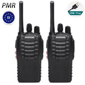 2pcs Baofeng BF-88E PMR 446MHZ USB 충전기 핸드 헬드 햄 양방향 라디오 BF-888S BF888S1
