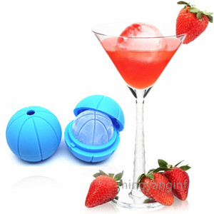 Ice Cube Molds Silicone Ice ball Molds Baskrtball Ice Maker for Drinks, Ball Shape for Whiskey, Cola, cocktails etc MY-inf0491