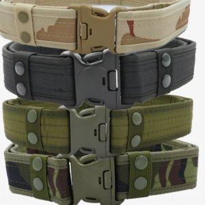 NTBHB Hombre Canvascouflage táctico Productos al aire libre EVA Sponge Security Cinturón de lona Fans de Ejército Oxford Pantalones Cinturón