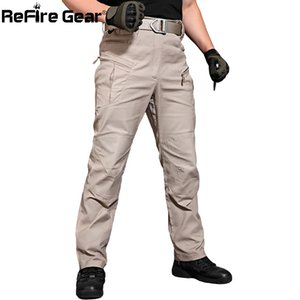 ReFire Gear New IX8 Cargo Pants Men Tacitical Muti Pockets SWAT Army Combat Pant Male Military Assault Cotton Workout Trousers 0930