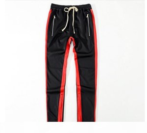 2018 New Green Colour Fear Of God Fifth Collection Casual Sport side zipper casual sweatpants men hiphop jogger pants 4 style