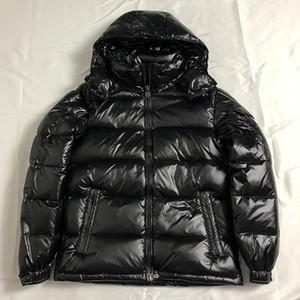 Мужские куртки вниз капот мужчины британского стиля зима ветровка Белая утка вниз пальто Черного Оранжевого Мужчины пуховик человек XXXL (UK S = CHN L