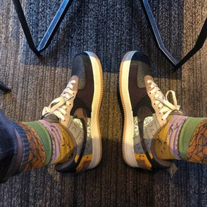Brand Barb Travis Scott Joint Name a Stitching Ts Towel Bottom Stockings Trendy Socks