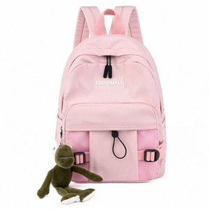 Backpack Simple Versatile Travel Backpack Large Capacity Light Student Schoolbag Multi Side Bags Waterproof Pendant 6kz1#