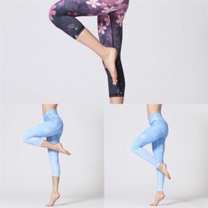 RI3 DONNE DONNE CONTROLLO SKINNY YOGA Pantaloncini elastici a vita alta Addomen yoga Pant Pant Lunghezza Asciugatura Asciugatura Quick Asciugatura Gending Yoga Brevi Pantaloni PURE PURE
