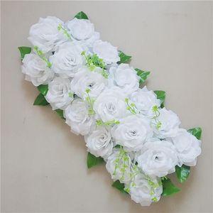 50cm 100cm custom wedding flower wall arrangement supplies silk peony artificial flower row decor Romantic diyiron arch backdrop
