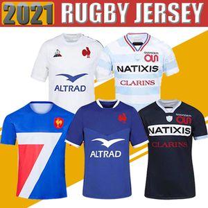 20 21 Fransa Süper Rugby Formalar Yelek Ceket Ile 2021 Fransa Gömlek Rugby Maillot De Ayak Fransız Boln Rugby Gömlek Ceketler